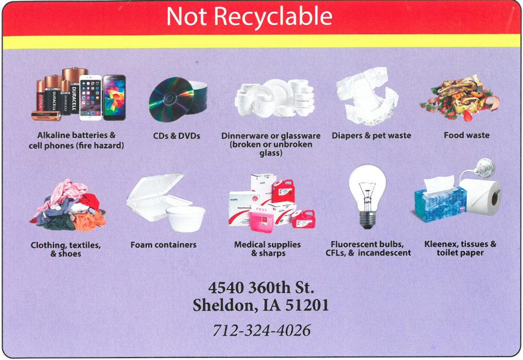 Nonrecyclable Northwest Iowa Landfill